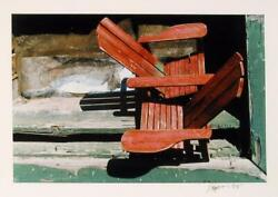 Paul Jacobsen Adirondack Chair Color Photograph Signed And Dated In Ink L.r.