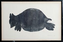 Joseph Kurhajec Toad Etching Signed And Numbered In Pencil