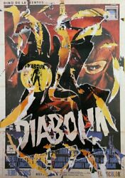 Mimmo Rotella Diabolik Screenprint With Collage Signed In Pencil L.r.