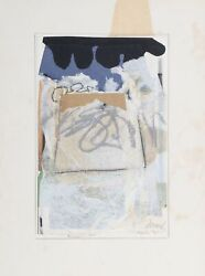 Bertrand Dorny Untitled Collage With Pastel Signed L.r.