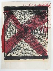 Antoni Tapies Diana Lithograph On Japon Signed In Pencil