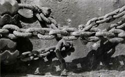 Theodore Cohen Rusted Chains Gelatin Silver Print
