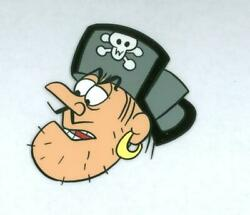 Jay Ward, Untitled - Cap'n Crunch Pirate 15 - Head, Acetate Cel And Pencil Drawi