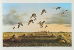 Bob Elgas The Harvesters Offset Lithograph Signed And Numbered