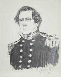 Greenlund Admiral David Glasgow Farragut Graphite On Paper Signed And Dated