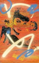 Bobby Hill, Audrey Hepburn, Screenprint And Acrylic Painting, Signed And Dated