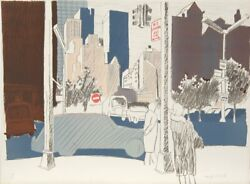 Fairfield Porter Untitled New York City Lithograph Signed And Numbered In P