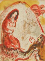 Marc Chagall Rachel Steals Her Fatherand039s Graven Images From Drawings For The Bi