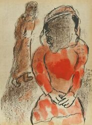Marc Chagall Tamar The Daughter-in-law Of Judah From Drawings For The Bible L