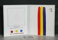 Jasper Johns Target 1970 Print With Book In White Case