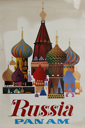 Travel Poster, Pan-am - Russia, Poster
