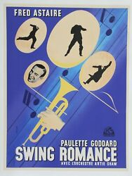 Jean Colin Fred Astaire Swing Romance Poster Modern Printing