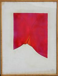Miles Forst, Untitled - Red Abstract Erotic, Oil On Paper, Signed And Dated L.