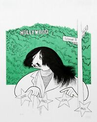 Al Hirschfeld Ringo Starr Visits Hollywood Lithograph On Japon Signed And Num