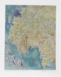 Guillaume Azoulay, Jacob's Dream Ii, Etching, Signed And Numbered In Pencil
