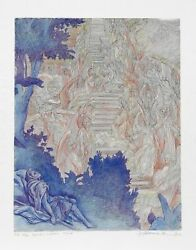 Guillaume Azoulay, Jacob's Dream Iii, Etching, Signed And Numbered In Pencil
