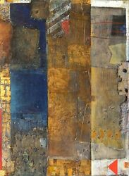 Gleb Sergeevič Bogomolov Arc With Golden Vertical Oil And Collage On Canvas S