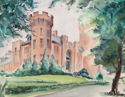Eve Nethercott Flushing Armory P6.6 Watercolor On Paper