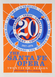 Robert Indiana, The Santa Fe Opera, Screenprint, Signed And Numbered In Pencil