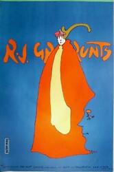 Peter Max, Rj Grunts, Poster, Signed And Dated In Marker