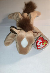 Rare Ty Beanie Babies Derby Retired With Star And Fluffy Mane W/ Errors Mint