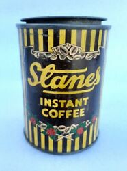 Vintage Old Rare Stanes Instant Coffee Advertising Litho Tin Can Box Lid India