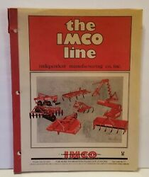 The Imco Line Rotary Cutters Scoops Plows Cultivators Farm Equipment Catalog