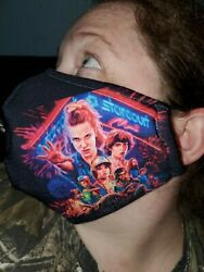Homemade Fabric Reusable Face Mask washable stranger things theme $10.00