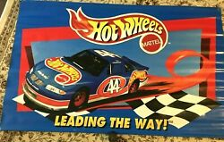 Large Mattel Toys 1997 Hot Wheels In Store Adv Banner Nascar Kyle Petty 44 Race