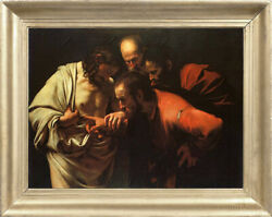 Old Master Art Portrait Incredulity Of Saint Thomas Oil Painting Unframed 36x48