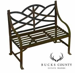 Wrought Iron Winterthur Chippendale Style Antique Childs Garden Settee Bench