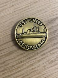 Uss Chief Mcm-14 Chief's Mess Navy Challenge Coin