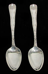 And Co 2 Wave Edge Sterling Silver 8 1/2 Oval Soup Spoons No Mono