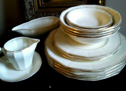 Vintage Myott Son And Co. Dinnerware Set,for 4 -19 Pc Ivory 6471 England 1936