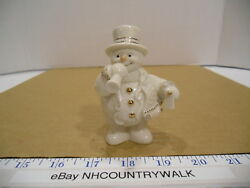 Lenox New Years Celebration Mini Snowman Top Hat Scarf Horn And Noise Maker - Euc