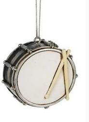 On Holiday Black Snare Drum Christmas Tree Ornament