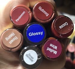 7 Pieces Lipsense Assorted Bundle 5 Colors Gloss And Oops Will Combine Shipping.