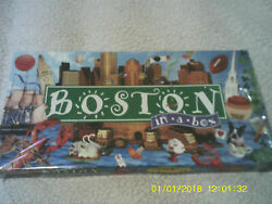 BOSTON IN A BOX MONOPOLY BOARD GAME LATE FOR THE SKY Sealed amp; Unpunched NEW