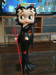 Extremely Rare Betty Boop As Sexy Black Devil Figurine Statue