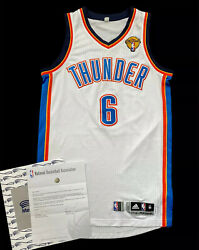 Okc Thunder Maynor Nba Finals 2012 Meigray Game Issued Used Jersey Rev30 Mesh