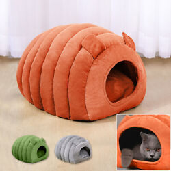 Comfy Pet Cat Dog Nest Bed Puppy Soft Warm Cave House Sleeping Igloo Bag Mat Pad $37.99