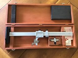 Minty Starrett No. C454m Surface Gage Scribes And Case - Hand Tool - Machinist
