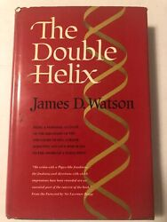 1st Printing Atheneum 1968 The Double Helix James D Watson Dustjacket 305