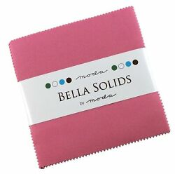 Bella Solids 30s Pink Moda Charm Pack By Moda Fabrics 42-5 Quilt Squares