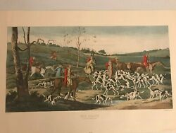 Thomas Sutherland The Death Fox Hunt Lithograph Engraving Art After Henry Alken