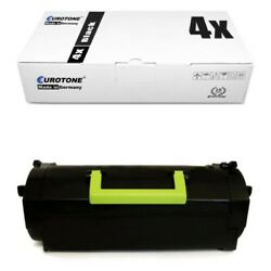 4x Eco Toner Replaces 24b6015 Lexmark M-5100-series M-5155 With Per 35.000 Pages