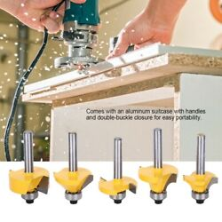 24pcs 1/4and039and039in Shank Router Bit Set Carbide Bits Woodworking Hardwood Tool Kit Us