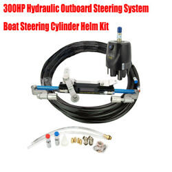 300hp Hydraulic Outboard Steering System Boat Steering Cylinder Helm Kit Durable