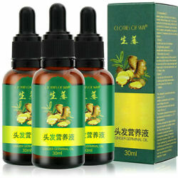 3x Hair Regrow Ginger Germinal Serum Essence Oil Loss Treatment Growth Us