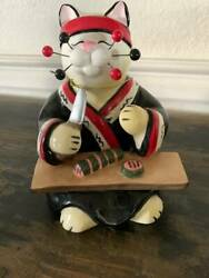 WHIMSI CLAY LaCombe Cat Figurine Used Excellent Condition